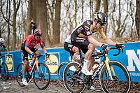 Wout van Aert (BEL/Jumbo-Visma) up the infamous Kemmelberg<br /> <br /> 83rd Gent-Wevelgem - in Flanders Fields (ME - 1.UWT)<br /> 1 day race from Ieper to Wevelgem (BEL): 254km<br /> <br /> ©kramon