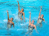 Stanford, CA; Saturday March 24, 2013: Synchronized Swimming, U.S. Collegiate Nationals.