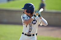 Jack Hennessy (7) (USC-Upstate) of the High Point-Thomasville HiToms at bat against the Statesville Owls at Finch Field on July 19, 2020 in Thomasville, NC. The HiToms defeated the Owls 21-0. (Brian Westerholt/Four Seam Images)