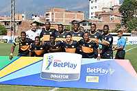 ITAGÜÍ - COLOMBIA, 04-03-2020: Jugadores de Boca Cali posan para una foto previo al encuentro entre Leones F.C. y Boca Juniors de Cali por la primera ronda de clasificación de la Copa BetPlay DIMAYOR 2020 jugado en el estadio Polideportivo Sur de Envigado. / Players of Boca Cali pose to a photo prior the second leg match between Leones F.C. and Boca Juniors de Cali between Leones F.C. and Boca Juniors de Cali for the first round of classification as part of BetPlay DIMAYOR Cup 2020 played at Polideportivo Sur stadiim in Envigado city.  Photo: VizzorImage / Leon Monsalve / Cont