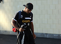 Wednesday 28 August 2013<br /> Pictured: Wayne Routledge at the Swansea training ground.<br /> Re: Swansea City FC players and staff en route for their UEFA Europa League, play off round, 2nd leg, against Petrolul Ploiesti in Romania.