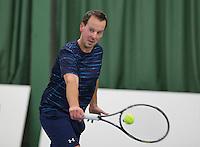 Rotterdam, Netherlands, Januari 24, 2016,  ABNAMROWTT Supermatch, Gert Jan Nieuwlaats (NED)<br /> Photo: Tennisimages/Henk Koster