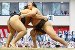 (L-R) Kakuryu, Hakuho, <br /> APRIL 17, 2017 - Sumo : Yasukuni Shrine Honozumo is a ceremonial annual sumo tournament held in the precincts of the Yasukuni Shrine in Tokyo, Japan. (Photo by Yohei Osada/AFLO SPORT)