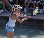 Mona Barthel (GER)  defeats Sloane Stephens (USA) 6-3, 7-6 at the Family Circle Cup in Charleston, South Carolina on April 8, 2015.