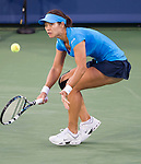 Li Na (CHN) wins in the semifinals at the Western & Southern Open in Mason, OH on August 18, 2012.