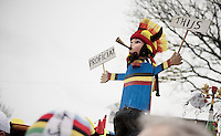 original cheers for new junior world champion Thijs Aerts (BEL)<br /> <br /> 2014 UCI cyclo-cross World Championships