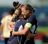 Abby Wambach celebrates her goal with Washington Freedom teammates.  Washington Freedom defeated FC Gold Pride 3-1at the Maryland SoccerPlex, Sunday May 31, 2009.