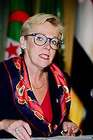 Montreal (Qc) CANADA - May 15, 2000<br /> Francoise Bertrand , chairwoman of the CRTC, <br /> at the 2000 Conference of Montreal.<br /> She resigned in December 2000.