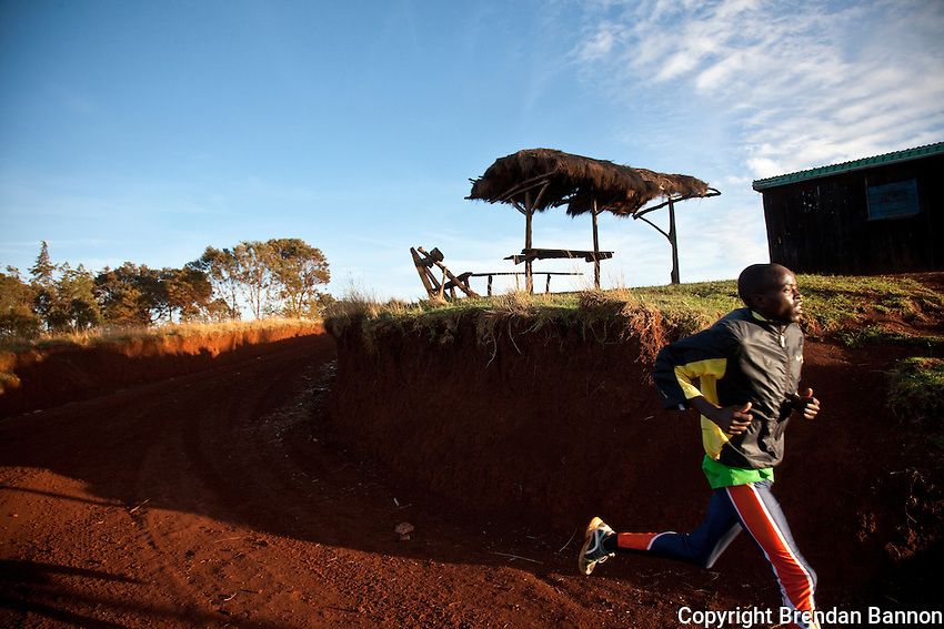 A runner on the dirt roads of Iten, Kenya. The small town has given the  running world some of its best champions.