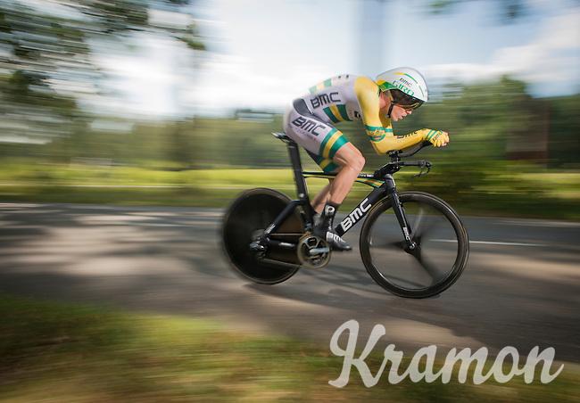 Rohan Dennis (AUS/BMC) on his way to winning the stage<br /> <br /> 12th Eneco Tour 2016 (UCI World Tour)<br /> stage 2: Breda-Breda iTT (9.6km)