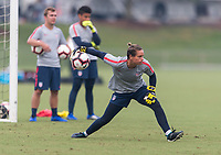 Cary, NC - October 6, 2018:  The USWNT trains in preparation for the group stage of the 2018 CONCACAF Women's Championship at WakeMed Soccer Park.