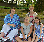 Emma Tucker with Mitch, Emma and Sophie Sulves-Berry at  Gallim Dance at The Pocantico Center, Kykuit, New York.