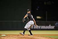 AZL White Sox relief pitcher Anthony Herron, Jr. (31) delivers a pitch to the plate against the AZL Angels on August 14, 2017 at Diablo Stadium in Tempe, Arizona. AZL Angels defeated the AZL White Sox 3-2. (Zachary Lucy/Four Seam Images)