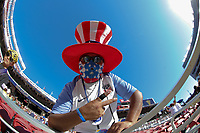 Santa Clara, CA - Wednesday July 26, 2017: USA supporters during the 2017 Gold Cup Final Championship match between the men's national teams of the United States (USA) and Jamaica (JAM) at Levi's Stadium.