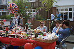 Prince William Kate Middleton Princess Catherine Royal Wedding Street Party. Barnes London UK. 29 April 2011