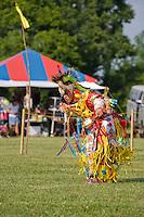Traditional Grass Dancer, Nanticoke Lenni-Lenapi Indian Pow Wow