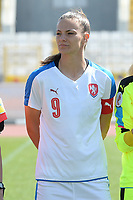 20180307 - LARNACA , CYPRUS : Czech Lucie Vonkova pictured during a women's soccer game between  Slovakia and the Czech Republic , on Wednesday 7 March 2018 at the GSZ Stadium in Larnaca , Cyprus . This is the final game in a decision for 9 th or 10 th place of the Cyprus Womens Cup , a prestigious women soccer tournament as a preparation on the World Cup 2019 qualification duels. PHOTO SPORTPIX.BE   DAVID CATRY