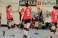 BEVO Roeselare : vreugde na het winnen van de wedstrijd<br /> foto VDB / BART VANDENBROUCKE