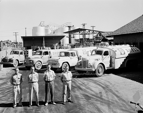 0301-857 Shell Oil distributor, Tank farm. Christie Oil Co. Phoenix Arizona, 1960