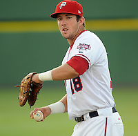 Infielder Steven Souza (18) of the Potomac Nationals, Carolina League affiliate of the Washington Nationals, prior to a game against the Salem Red Sox on June 16, 2011, at Pfitzner Stadium in Woodbridge, Va. Photo by Tom Priddy / Four Seam Images