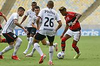 3rd October 2021; Maracana Stadium, Rio de Janeiro, Brazil; Brazilian Serie A, Flamengo versus Athletico Paranaense; Bruno Henrique of Flamengo takes on Léo Cittadini of Athletico Paranaense