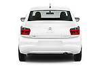 Straight rear view of 2016 Citroen C-Elysee Confort 4 Door Sedan Rear View  stock images