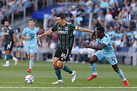 ST PAUL, MN - AUGUST 14: Sacha Kljestan #16 of the Los Angeles Galaxy during a game between Los Angeles Galaxy and Minnesota United FC at Allianz Field on August 14, 2021 in St Paul, Minnesota.