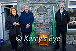 Lixnaw Development Association unveiling a plague to Willie 'Sonny' McCarthy who was born in Lixnaw and was shot in Tralee on March 26th 1921. L to r: Claire and Justin McCarthy and Dick McElligott (Chairman Lixnaw Development Association).