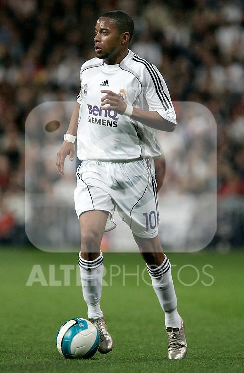 Real Madrid's Robinho during Spain's La Liga match at Santiago Bernabeu stadium in Madrid, Sunday March 18, 2007. (ALTERPHOTOS/Alvaro Hernandez).