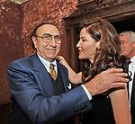 PIPPO BAUDO E MELBA RUFFO DI CALABRIA<br /> CHARITY DINNER VILLA LETIZIA 2009 ORGANIZZATO DA EMMA BONINO