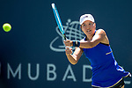 July 28, 2019: Harmony Tan (FRA) in action where she defeated Priscilla Hon (AUS) 5-7, 6-3, 6-1 in the second round of qualifying in the Mubadala Silicon Valley Classic at San Jose State in San Jose, California. ©Mal Taam/TennisClix/CSM