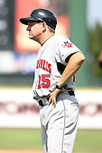 August 12 2008:  Coach Mark Janesen of the Indianapolis Indians, Class-AAA affiliate of the Pittsburgh Pirates, during a game at Frontier Field in Rochester, NY.  Photo by:  Mike Janes/Four Seam Images