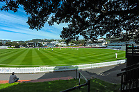 A general view during day two of the Plunket Shield match between the Wellington Firebirds and Canterbury at Basin Reserve in Wellington, New Zealand on Tuesday, 20 October 2020. Photo: Dave Lintott / lintottphoto.co.nz