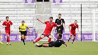 Orlando, Florida - Saturday January 13, 2018: Sam Gainford and Mason Toye. Match Day 1 of the 2018 adidas MLS Player Combine was held Orlando City Stadium.