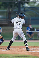 AZL White Sox center fielder Luis Mieses (22) at bat during an Arizona League game against the AZL Dodgers at Camelback Ranch on July 7, 2018 in Glendale, Arizona. The AZL Dodgers defeated the AZL White Sox by a score of 10-5. (Zachary Lucy/Four Seam Images)