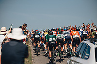6th September 2021; Sherford to Exeter, Devon, England:  The AJ Bell Tour Of Britain, Stage 2 Sherford to Exeter. The peloton passes through Dartmoor.