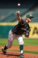 Hawaii Rainbow Warriors pitcher LJ Brewster (22) delivers a pitch to the plate during Houston College Classic against the Baylor Bears on March 6, 2015 at Minute Maid Park in Houston, Texas. Hawaii defeated Baylor 2-1. (Andrew Woolley/Four Seam Images)