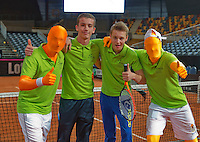 Februari 08, 2015, Apeldoorn, Omnisport, Fed Cup, Netherlands-Slovakia, Volley challenge winners<br /> Photo: Tennisimages/Henk Koster