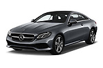 2018 Mercedes Benz E Class Executive 2 Door Coupe angular front stock photos of front three quarter view