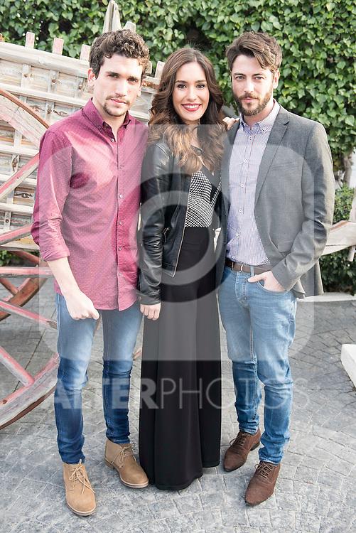 """Jaime Llorente, Yara Puebla and Angel de Miguel at lunch on the 5th anniversary of """" El secreto de Puente Viejo"""" series  in Madrid, February 18, 2016<br /> (ALTERPHOTOS/BorjaB.Hojas)"""
