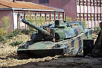- Kosovo, Leclerc tank of French army lined up in the  Mitroviza area<br /> <br /> - Kossovo, carro armato Leclerc dell'esercito francese schierato nella zona di Mitroviza