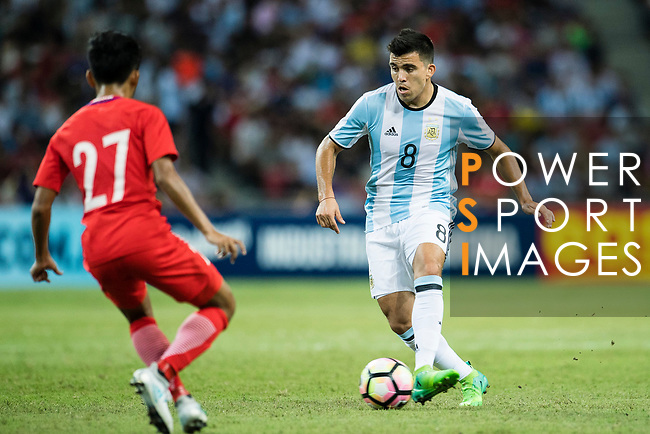 Marcos Acuna of Argentina (R) during the International Test match between Argentina and Singapore at National Stadium on June 13, 2017 in Singapore. Photo by Marcio Rodrigo Machado / Power Sport Images