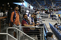 SAN JOSE, CA - AUGUST 17: Fans before a game between Minnesota United FC and San Jose Earthquakes at PayPal Park on August 17, 2021 in San Jose, California.