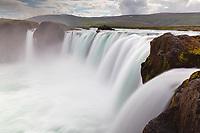 Skjálfandafljót River falls over Goðafoss waterfall, Northeast Iceland, Iceland