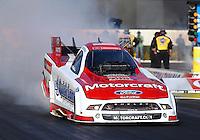 Feb 9, 2014; Pomona, CA, USA; NHRA funny car driver Bob Tasca III during the Winternationals at Auto Club Raceway at Pomona. Mandatory Credit: Mark J. Rebilas-