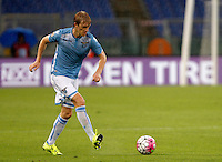 Calcio, Serie A: Lazio vs Udinese. Roma, stadio Olimpico, 13 settembre 2015.<br /> Lazio's Dusan Basta in action during the Italian Serie A football match between Lazio and Udinese at Rome's Olympic stadium, 13 September 2015.<br /> UPDATE IMAGES PRESS/Isabella Bonotto