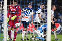 Remo Freuler of Atalanta celebrates with team mates after scoring a goal<br /> Napoli 30-10-2019 Stadio San Paolo <br /> Football Serie A 2019/2020 <br /> SSC Napoli - Atalanta BC<br /> Photo Cesare Purini / Insidefoto