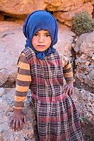 Todra Gorge, Morocco.  Amazigh Berber Girl, Age Six.