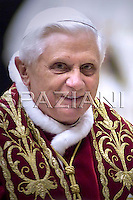"""Pope Benedict XVI """"feast of candles"""" Mass celebrated by Slovenian Cardinal Franc Rode', Prefect of the Congregation for Institutes of Consecrated Life and Societies of Apostolic Life,     in St. Peter's Basilica, at the Vatican.  ..February 2, 2007.. .."""