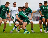 11th September 2021; Galway Greyhound Stadium, Connacht, Galway, Ireland; Pre-season rugby union, Connacht versus London Irish; Shayne Bolton (Connacht) and George Nott (London Irish) clash